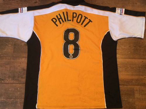2000 2001 Hull City Philpott Match Worn Home Football Shirt